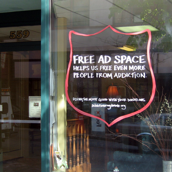 Salvation Army - Free Ad Space Campaign