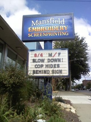 Mansfield Embroidery Slow Down Marketing